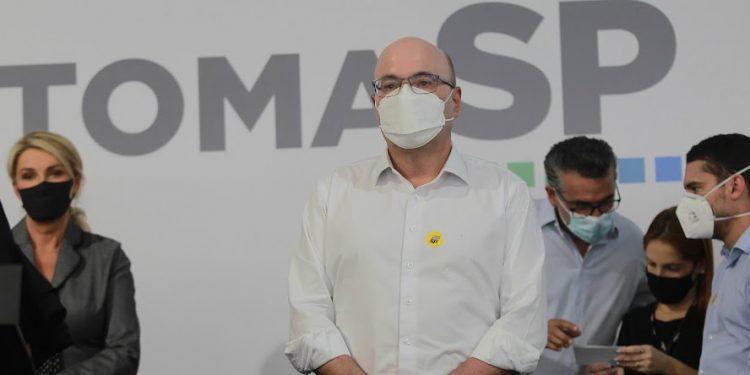 Dário Saadi durante encontro em Campinas com o governador de São Paulo, dia 17. Foto: Leandro Ferreira/Hora Campinas