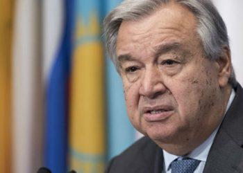 António Guterres, secretário-geral da Organização das Nações Unidas, pediu que a comunidade internacional mantenha diálogo com os talibãs - Foto: Mark Garten/ONU