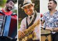 Os três músicos que vão participar: Luccas Soares, Romulo Oliveira e Leo Pelegrin - Foto: Divulgação