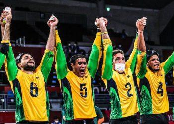 Seleção brasileira masculina de goalball conquista medalha de ouro inédita - Foto: Reprodução Twitter/CPB