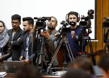 Em protesto nesta semana, pelo menos cinco jornalistas foram detidos e dois foram espancados - Foto: Unama/Fardin Waezi