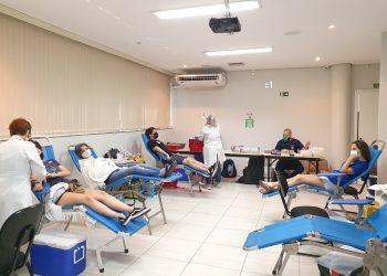 As 71 bolsas de sangue arrecadas poderão ajudar quase 280 pacientes.  Foto: Divulgação