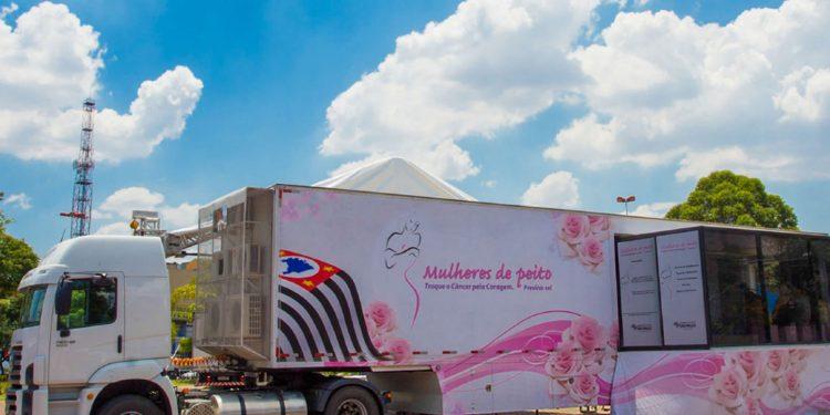 A carreta da mamografia atenderá mulheres que já têm encaminhamento para o exame. Foto: Divulgação