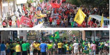 Manifestações contra a favor do governo, realizadas neste 7 de setembro em Campinas. Fotos: Leandro Ferreira / Hora Campinas
