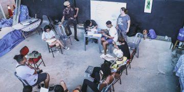 Reunião no Parque Oziel, antes da pandemia: publicitário hoje é um agente transformador e faz parte da agência Mandinga de Favela - Fotos: Divulgação/Arquivo Pessoal