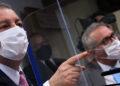 Comissão Parlamentar de Inquérito da Pandemia com o  presidente Omar Aziz (PSD-AM), e o relator Renan Calheiros (MDB-AL) Foto: Edilson Rodrigues/Agência Senado