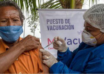 Comunidade indígena na Colômbia em campanha de vacinação contra Covid-19 - Foto: Opas Colômbia/ Karen González Abr