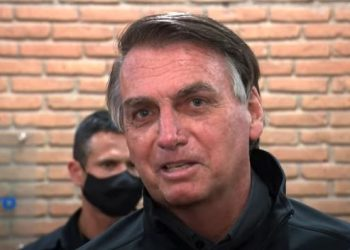 O presidente Jair Bolsonaro durante entrevista em Aparecida - Foto: Reprodução/Redes Sociais