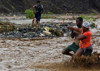 Eventos extremos do clima, como essa enchente do Haiti, podem afetar a saúde das pessoas Foto: MINUSTAH/Logan Abassi