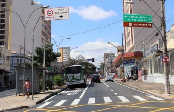 Quatorze linhas de ônibus, que circulam diariamente no trecho, foram beneficiadas.: juntas transportam mais de 42 mil passageiros - Foto: Divulgação/PMC