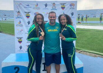 Tiffani Marinho, Evandro Lazari e Marlene dos Santos, membros da equipe campineira que conquistou bons resultados em competição no Equador - Foto: Divulgação