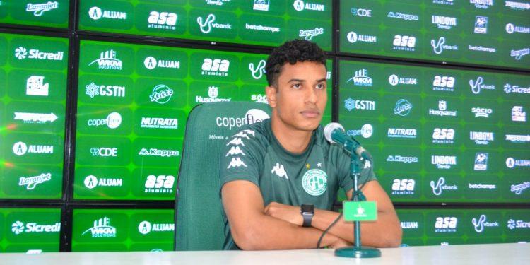 Diogo Mateus está 100% recuperado de lesão no tornozelo direito após mais de um mês fora dos gramados. Foto: Thomaz Marostegan/Guarani FC