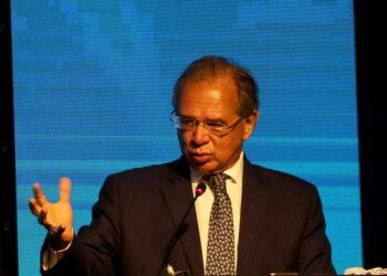 O ministro Paulo Guedes participou de evento empresarial e falou sobre o Auxílio Brasil - Foto: Wilson Dias/Agência Brasil