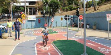Nesta sexta-feira, filhos de funcionários e colaboradores da Emdec puderam visitar a minicidade. Foto: Divulgação