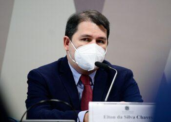 Último a depor na CPI, Elton da Silva Chaves, fala sobre relatório técnico que poderia barrar o uso da cloroquina Pedro França/Agência Senado