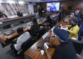 Sessão desta segunda-feira da CPI da Pandemi ouviu parentes de mortos pela Covid. Fotos: Edilson Rodrigues / Agência Senado