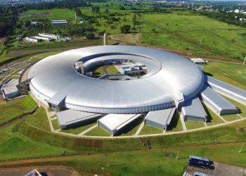 Vista aérea do Sirius, no campus do CNPEM em Campinas. Foto: Divulgação
